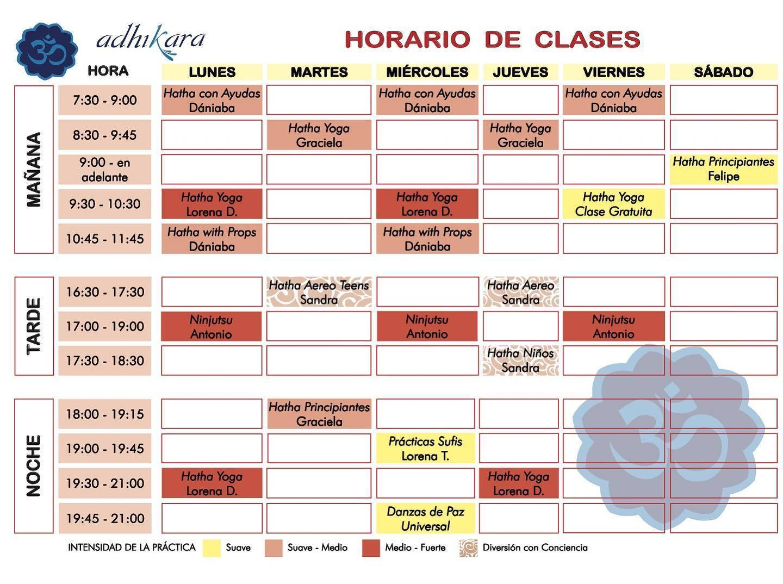 Adhikara cuenca schedule