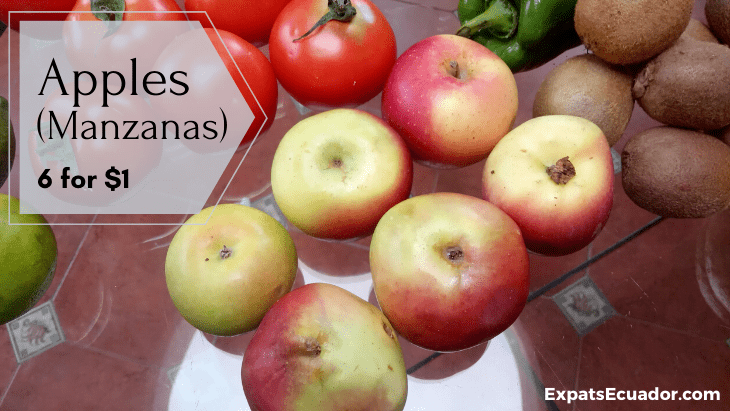 Apple (Manzana) Costs in Ecuador