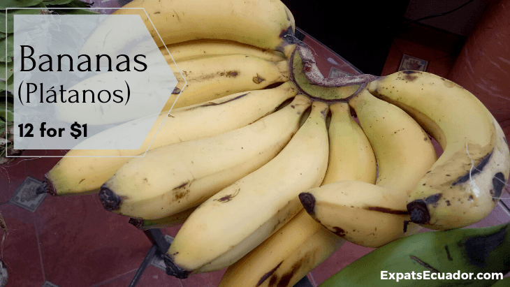 Banana (Plátano) Costs Cuenca