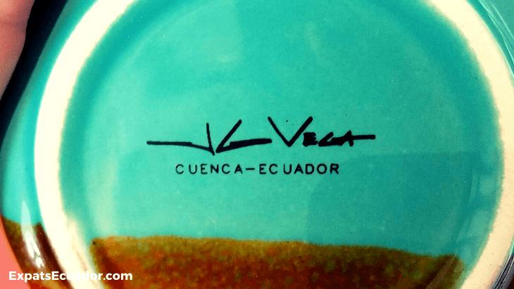 Juan Guillermo Vega Ceramics Signature