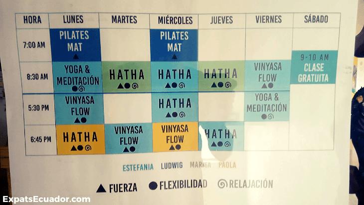 RumiSol Yoga Timetable