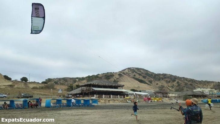 Michelle Kitesurfing in Santa Marianita Ecuador