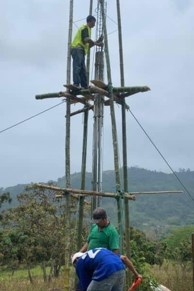 Constructing a dragon fruit farm in Ecuador