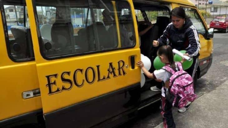 Riding the school bus in Ecuador