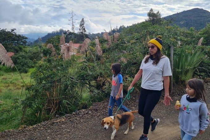 Family walk in Cuenca