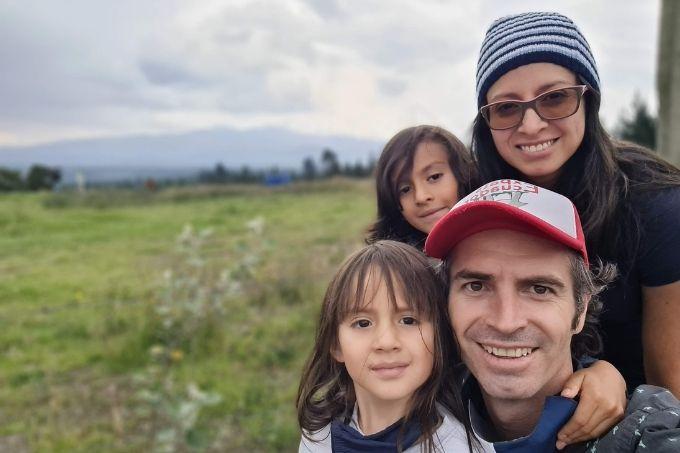 Our family enjoying a volcano